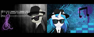 Blues Sisters (Dual-Screen Wallpaper) by iamandrus