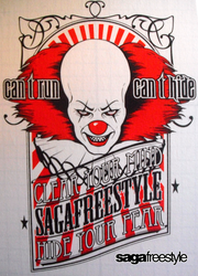 Clown Full of Hate T-shirt by sagafreestyle