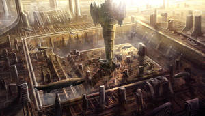 Gatrius - Cityscape by BlueRogueVyse