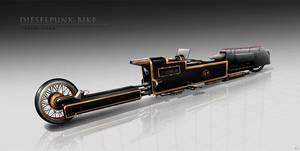 Dieselpunk-bike by BlueRogueVyse