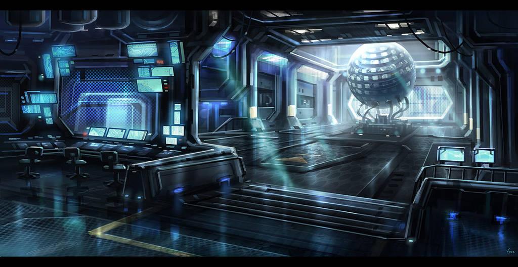 Sci-Fi Interior by BlueRogueVyse