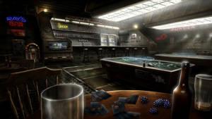 Black Falls - Ray's Bar by BlueRogueVyse