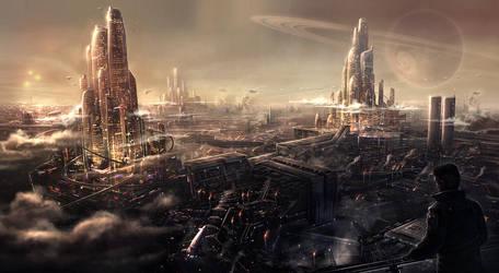 Urban Sprawl by BlueRogueVyse