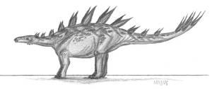 Chungkingosaurus jiangheiensis by EmperorDinobot