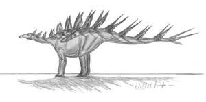 Kentrosaurus aethiopicus II by EmperorDinobot