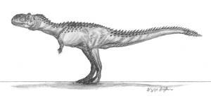 Rajasaurus narmadensis II by EmperorDinobot