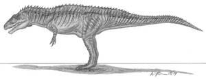 Acrocanthosaurus atokensis by EmperorDinobot