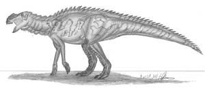 Aralosaurus tuberiferus by EmperorDinobot