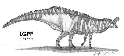 Tsintaosaurus spinorhinus by EmperorDinobot