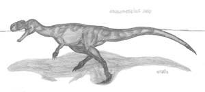 Monolophosaurus jiangi by EmperorDinobot