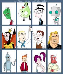 my favorite cartoon characters by mike-mclennan