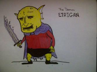 the demon ETRIGAN by mike-mclennan