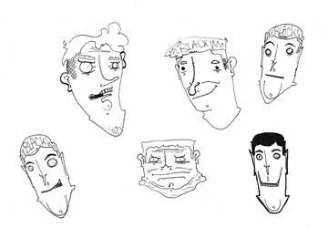 faces sketchbook 01/13 by mike-mclennan