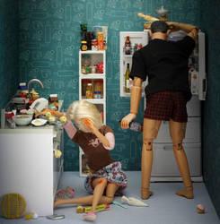 Domestic violence Barbie by djatapasko