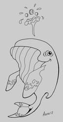 Whale Lineart by AshelBashel