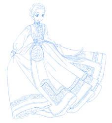 Sketchtember #13 - Bunad by Netsubou