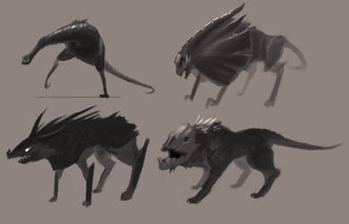 Creature Sketches by RynkaDraws