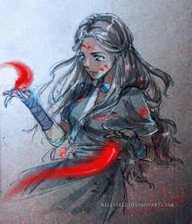 doodle_Blood bending Katara by kelly1412