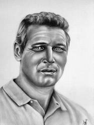 Paul Newman by abish