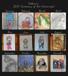 2017 Summary of art Drawings by Kallaria