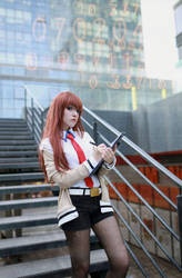 Makise Kurisu Cosplay by DEATHNOTE---L