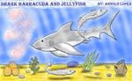 Shark,Barracuda and a Jellyfis by Leokingdom10