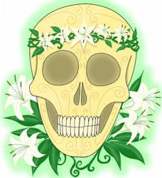 Skull of Flowers by Leokingdom10