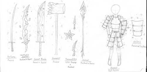 Aisu's Ice Weapons and Armor by Leokingdom10