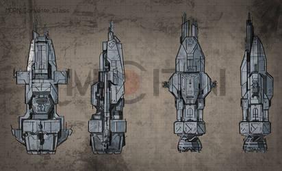 MCRN: Corvette Class Ship Schematics by Hyper-Aggie42