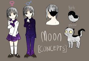 [Solar Sys-Gals Concept] Moon by Milk-Addicc