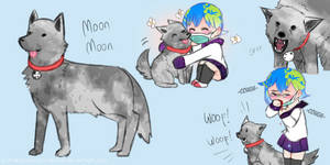 [Solar Sys-Gals] Moon Moon the Assist Doggo by Milk-Addicc