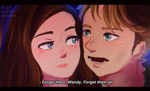 [Scene Redraw] Wendy + Peterpan by Milk-Addicc