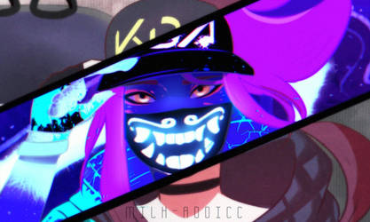 KDA Akali by Milk-Addicc
