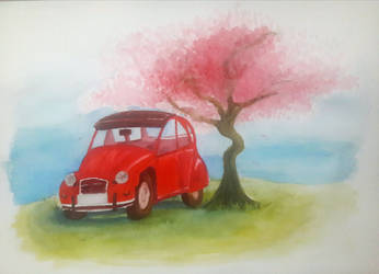 its a car and a tree by Milk-Addicc