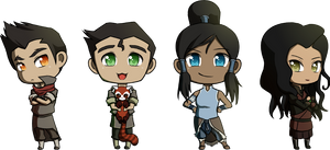 Team Avatar Chibis by tintinabar
