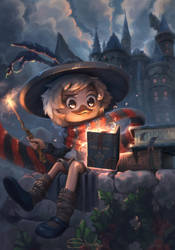 Webby Vanderquack and the Sorcerer's Book by sliiva