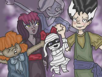 ghoul school by pinkublu