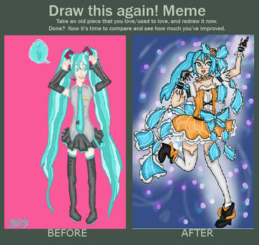 Draw This Again: Miku! by pinkublu