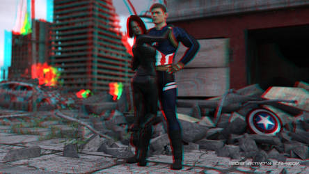 Don't Worry, I Got This! (Anaglyph) by ArtFunart4fun