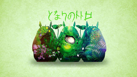 My Neighbour Totoro - Wallpaper by Supernatantem