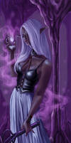 Drow priestess for Kanuka by niji707