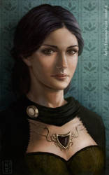 A portrait of Artemis Leah by niji707