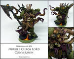 Nurgle Chaos Lord Conversion - Painted by chaotea
