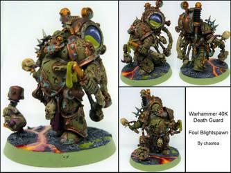 Death Guard Foul Blightspawn by chaotea