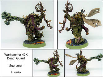 Death Guard Sorcerer by chaotea
