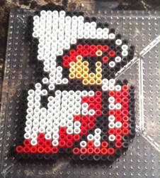 White Mage Perler by Ace8bit