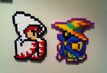 White Mage And Black Mage Perler by Ace8bit