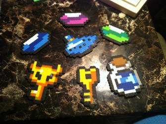 Legend of Zelda perlers by Ace8bit