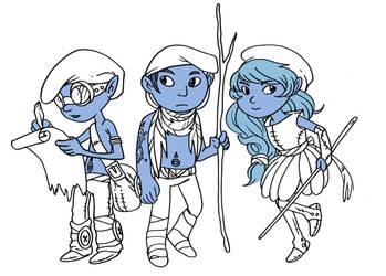 Mononoked Smurfs by secondlina