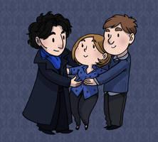 Sherlock trio by secondlina